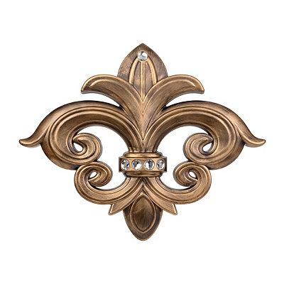 Gold Bling Fleur-de-Lis Plaque