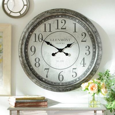 Malaga Antique Silver Clock