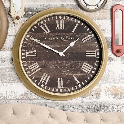 Seville Oak Clock