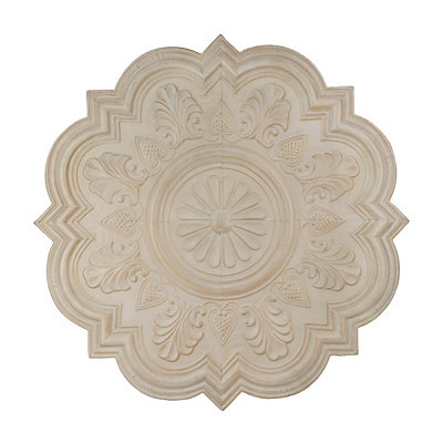 Cream Claire Rosette Medallion Tile