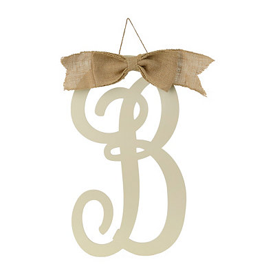Antique Cream Monogram B Plaque