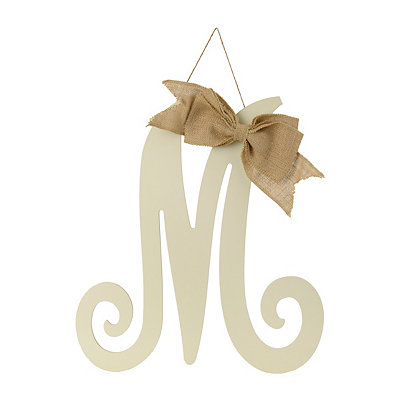 Antique Cream Monogram M Plaque