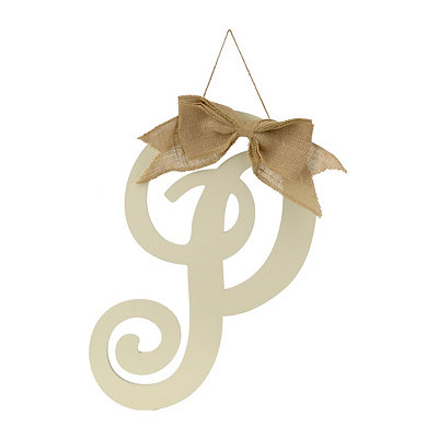 Antique Cream Monogram P Plaque