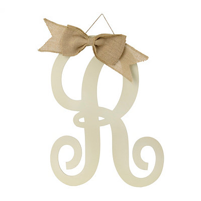 Antique Cream Monogram R Plaque