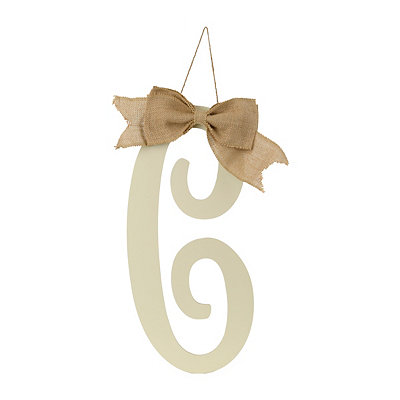 Antique Cream Monogram C Plaque