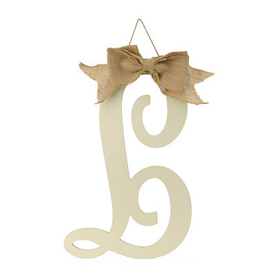 Antique Cream Monogram L Plaque