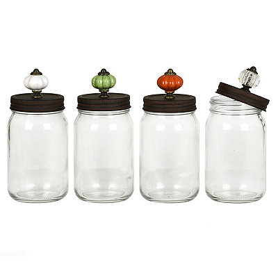 Decorative Mason Jars with Door Knob Lid