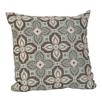 Blue and Chocolate Bonanza Pillow