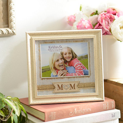 Aqua and Ivory Mom Picture Frame, 5x7