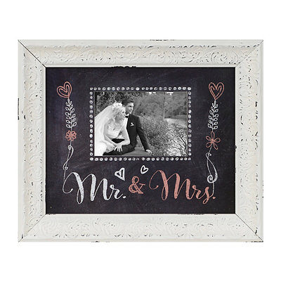 Red Mr. & Mrs. Chalkboard Art Picture Frame, 5x7