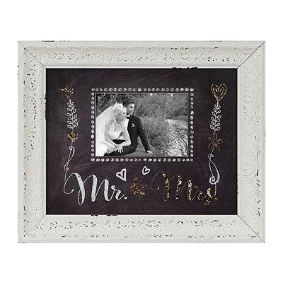 Gold Mr. & Mrs. Chalkboard Art Picture Frame, 5x7