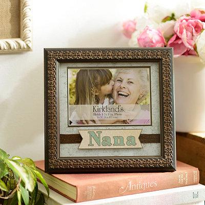 Aqua and Brown Nana Picture Frame, 5x7