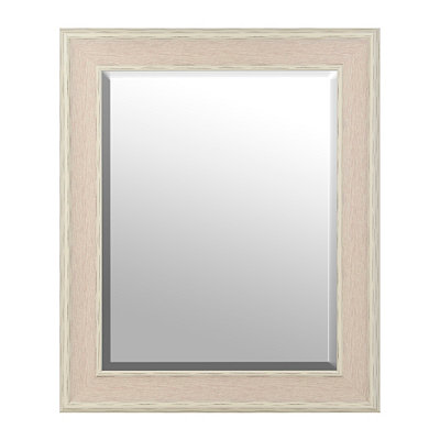White Dockside Framed Mirror, 29x35