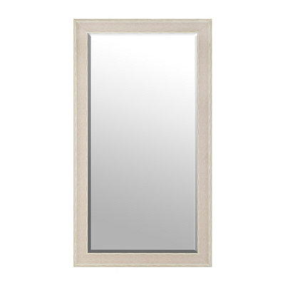 White Dockside Framed Mirror, 38x68 in.