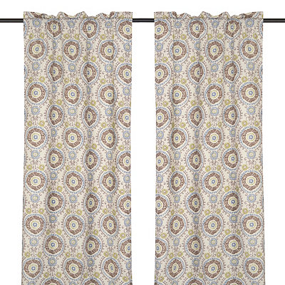 Ivory Tamariz Curtain Panel Set, 84 in.