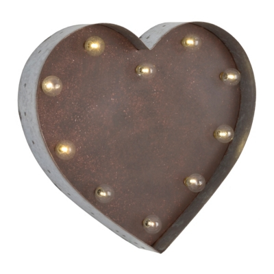 Heart LED Metal Plaque