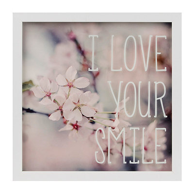 I Love Your Smile Framed Art Print