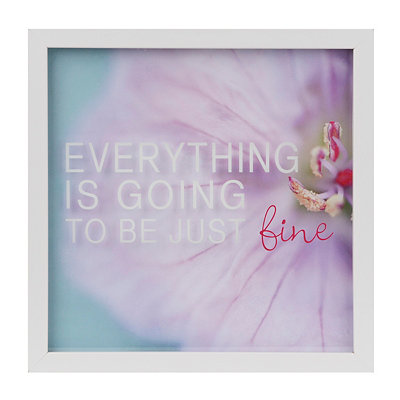 Everything is Going to be Fine Framed Art Print