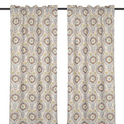 Ivory Tamariz Curtain Panel Set, 96 in.