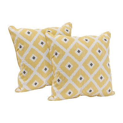 Yellow Ikat Pillow, Set of 2