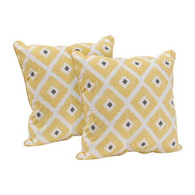 Yellow Ikat Pillow, Set of 2