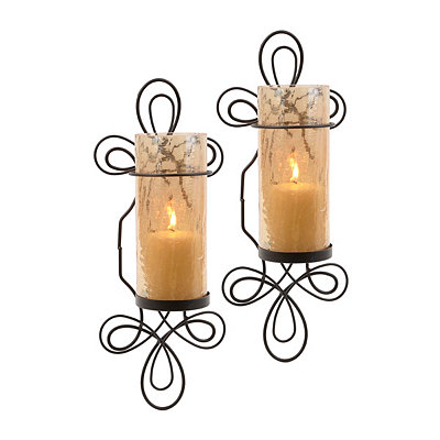 Amber Infinity Sconces, Set of 2