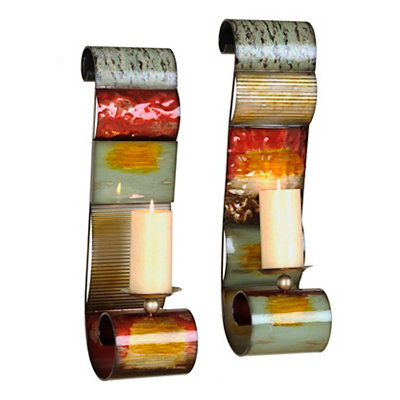 Madagascar Metal Sconces, Set of 2