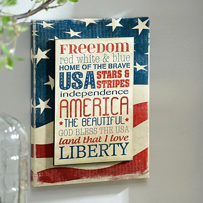 Freedom & Liberty Wall Plaque