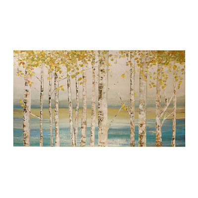 Birch Lake Canvas Art Print
