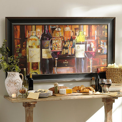 A Reflection of Wine Framed Art Print