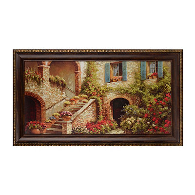 A Courtyard in Bloom Framed Art Print