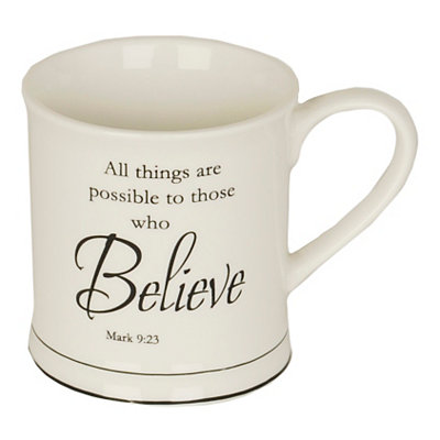 Believe Bible Verse Mug