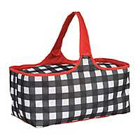 Black Plaid Picnic Tote