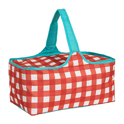 Red Plaid Picnic Tote