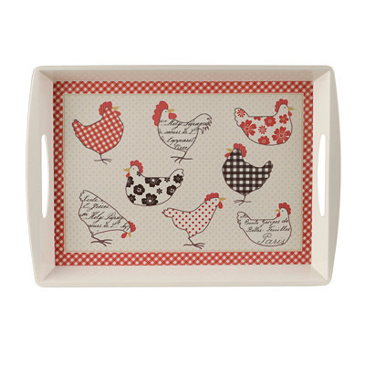 Red Rooster Serving Tray