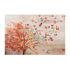 Butterfly Tree Canvas Art Print