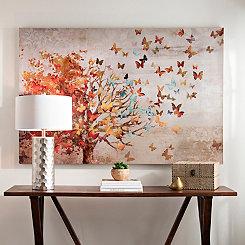 Butterfly Tree Canvas Art Print