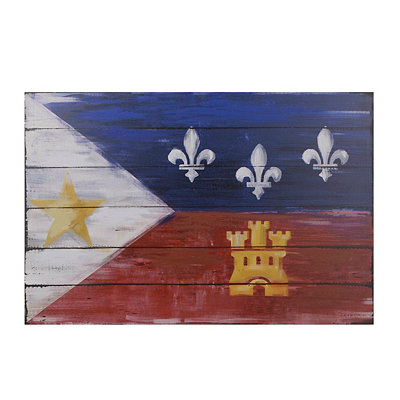 Distressed Cajun Flag Canvas Art Print