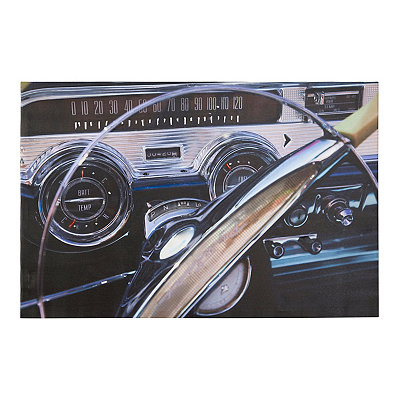 Car Dashboard Panel Canvas Art Print