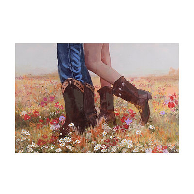 Cowboy Boot Couple Canvas Art Print