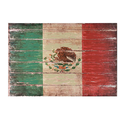 Distressed Flag of Mexico Canvas Art Print