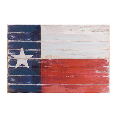 Distressed Texas State Flag Canvas Art Print