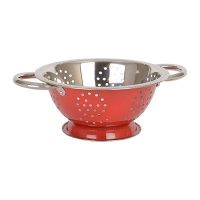 Red Metal Colander, 1.5 qt.
