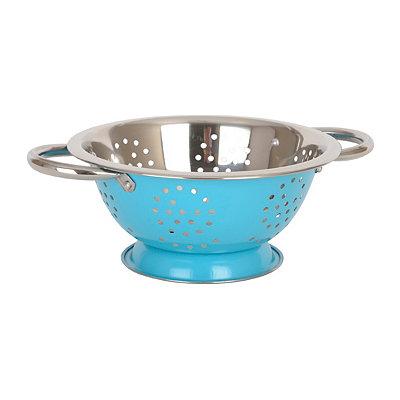 Turquoise Metal Colander, 1.5 qt.