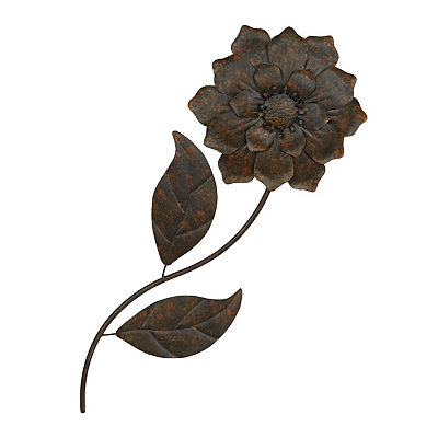 Distressed Bronze Metal Flower