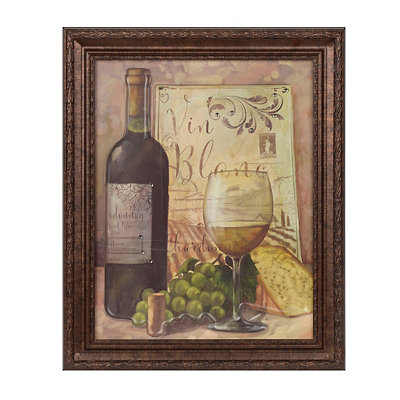 Jeweled Vin Blanc Framed Art Print