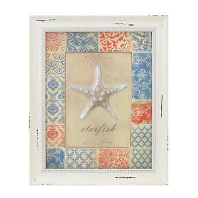 Patchwork Starfish Framed Art Print