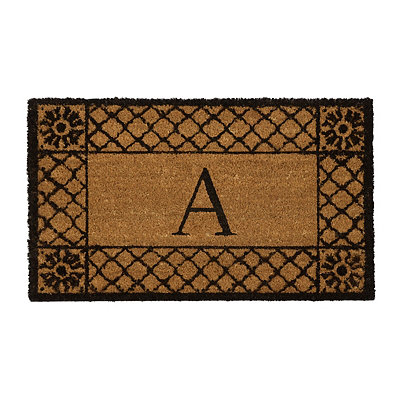Lattice Monogram A Doormat