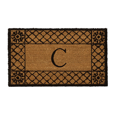 Lattice Monogram C Doormat
