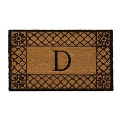 Lattice Monogram D Doormat